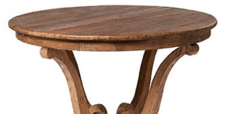 Circular Elm dining table