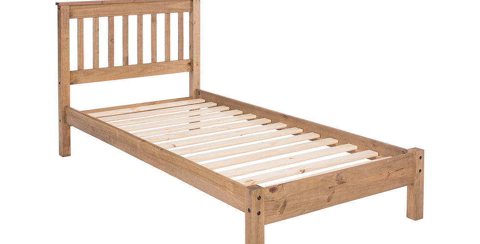 Single bed with low end bedstead