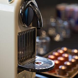 The Stadium Clinic VIP lounge coffee machine.