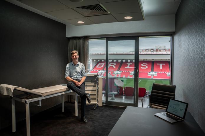 Damian Clark at the Stadium Clinic