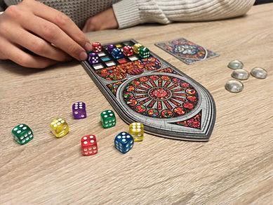 jeu de société coloré dés