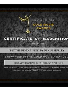 Best Actress - Gold Movie Award