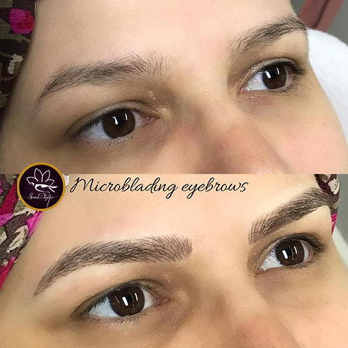 Microblading including touch up