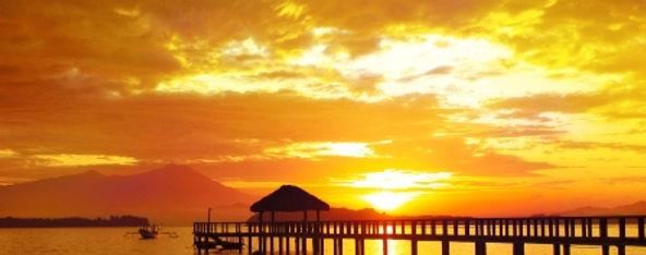 Der Sonnenuntergang aus Sekotong Lombok