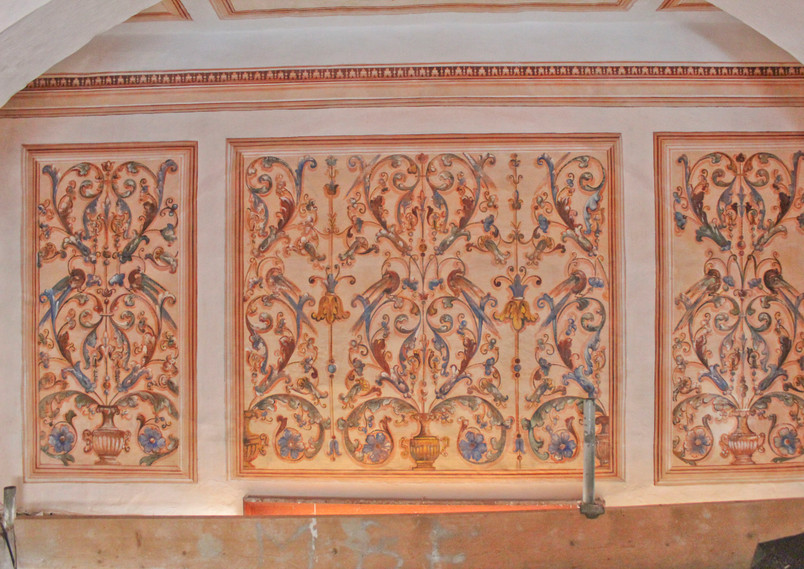 Detail of the murals taken following treatments.
