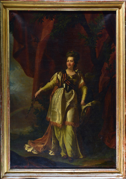 The full portrait of Catherine the Great - Before treatments.
