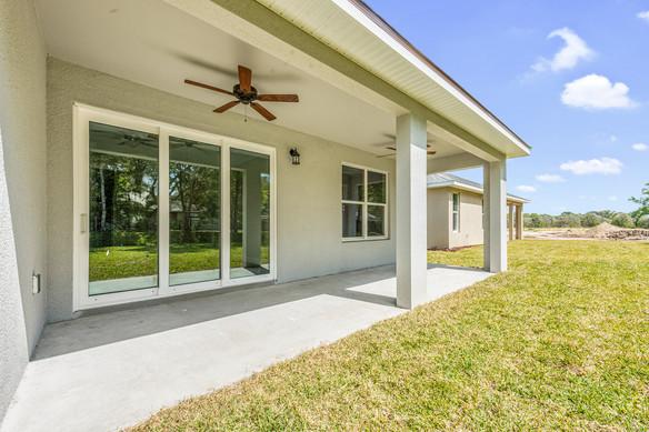 Covered Patio and Backyard - Chapman Floor Plan - Eleven Oaks