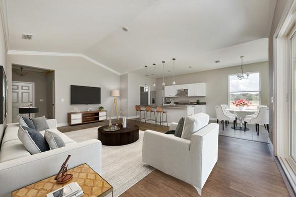Living Room - Willow Oak Floor Plan - Eleven Oaks
