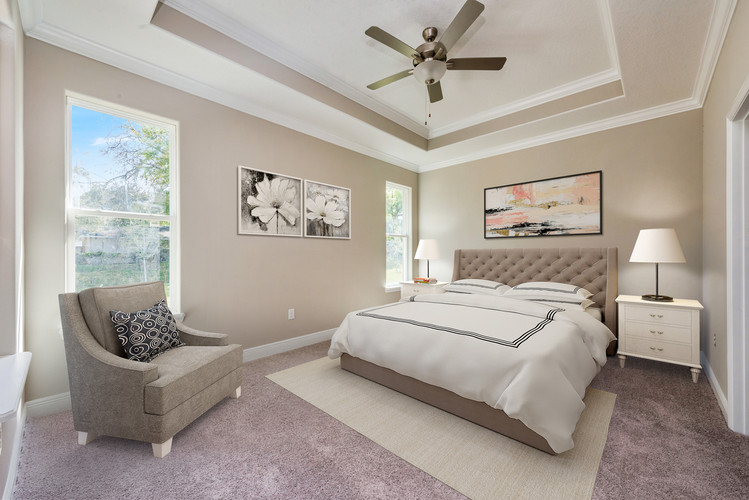 Master Bedroom - Willow Oak Floor Plan - Eleven Oaks