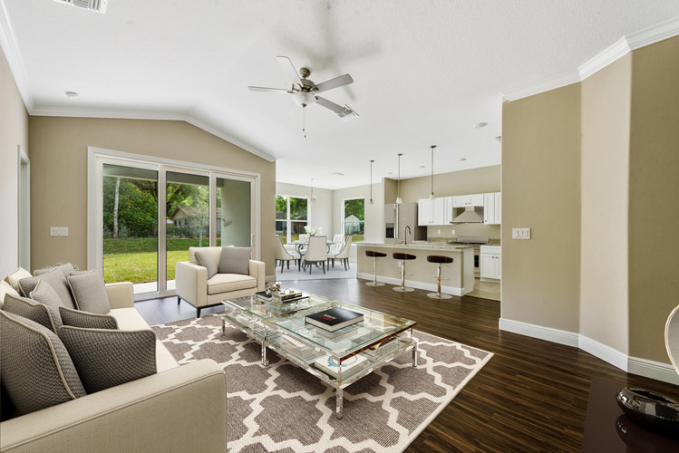 Living Room - Chapman Floor Plan - Eleven Oaks