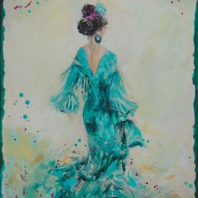 Flamenca en Verde / VENDIDO