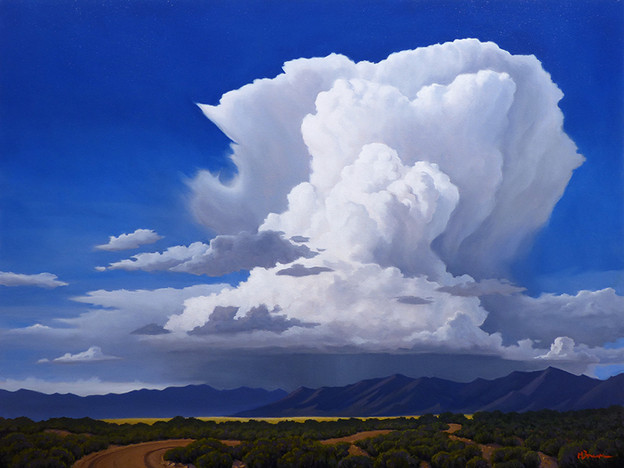 Storm over Desert Mountains