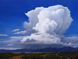 Storm over Desert Mountains