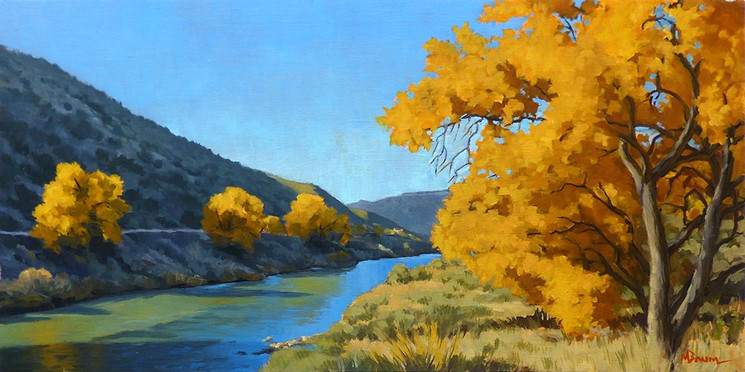 Study for Fall on the Rio Grande