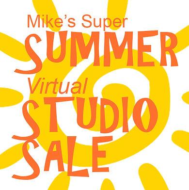 2020 Summer Studio Sale Header with sun.