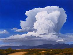 Storm over Desert Mountains Study