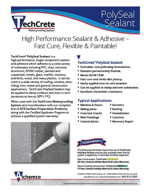 PolySeal Sealant Sell Sheet (QTY: 50)