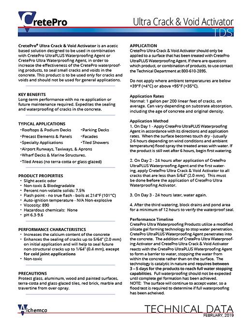 Ultra Crack Activator Technical Data Sheet