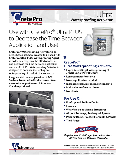 Ultra Activator Sell Sheet (QTY: 50)