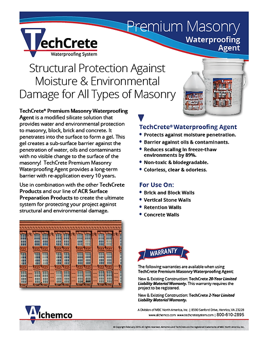 Premium Masonry Waterproofing Agent Sell Sheet (QTY: 50)