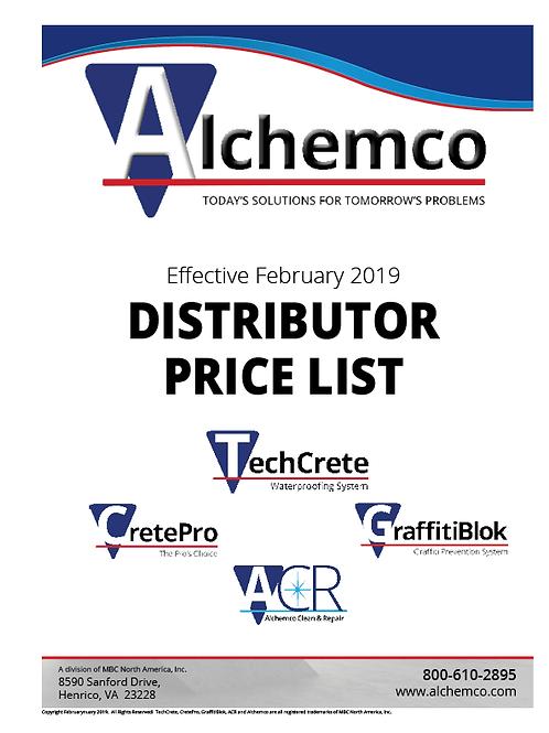 Alchemco U.S. Price List (QTY: 5)