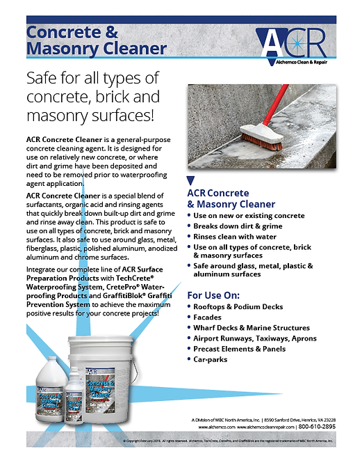 Concrete & Masonry Cleaner Sell Sheet (QTY: 50)