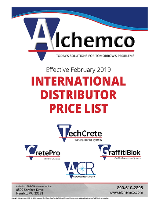 Alchemco International Price List