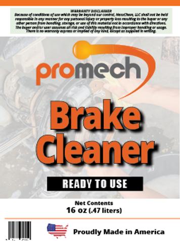 Promech All Natural Brake Cleaner - 16oz Spray Bottle