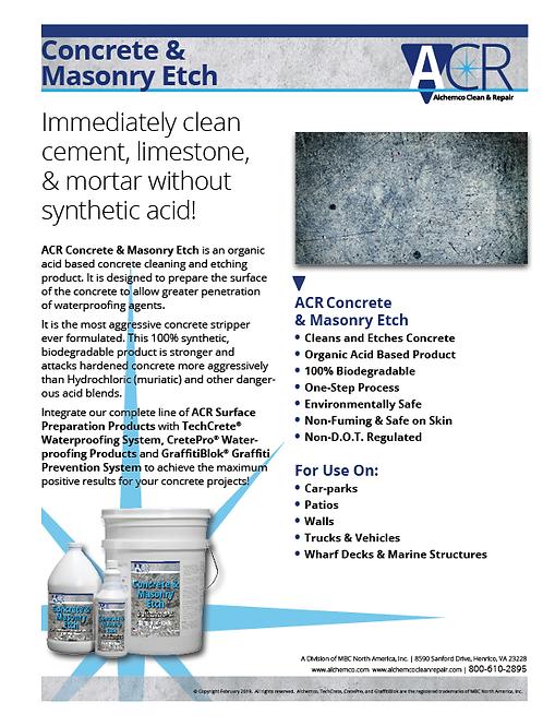 Concrete & Masonry Etch Sell Sheet (QTY: 50)