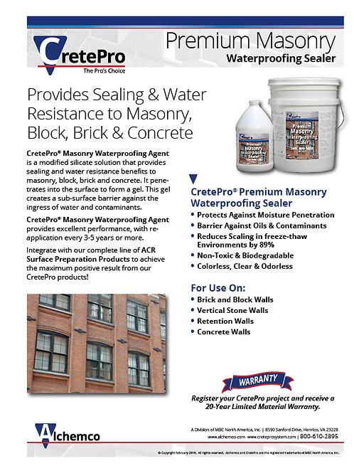 Ultra Masonry Sealer Sell Sheet (QTY: 50)