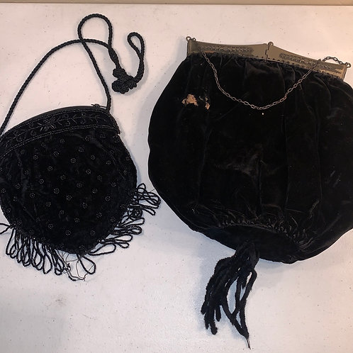 Two antique purses, both needing some TLC