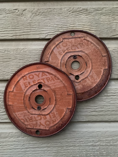 ROYAL ELECTRIC spool ends (2nd photo for size reference only)