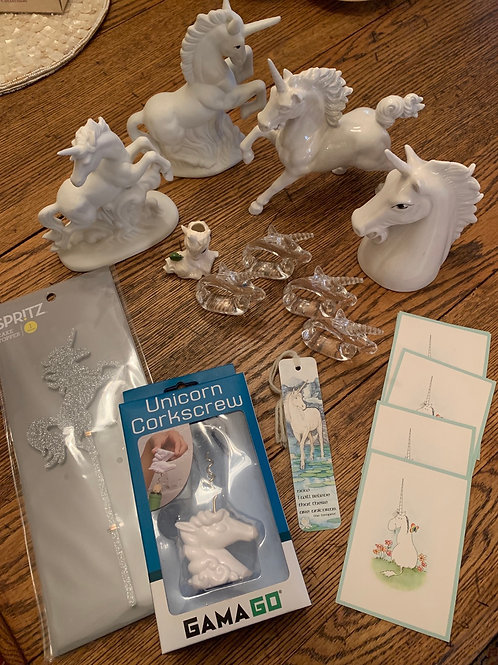 Unicorns!!! Such a fun lot, perfect for a Birthday party.