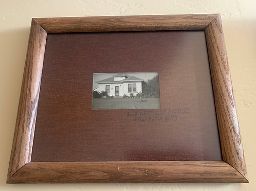 """Framed photograph of home in Oklahoma City, 11-1/2 x 9-1/2"""""""