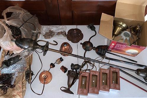Lots of lamp parts