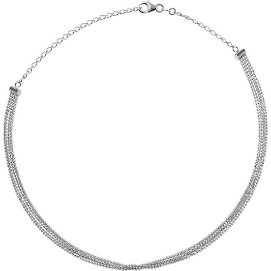 14K White Gold Choker