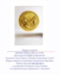 медаль в акриле литьё гальванизация глянцевое золото акрил