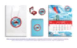 блокнот шеврон календарь ручка значок пакет с логотипом набор сувенирный подарочный