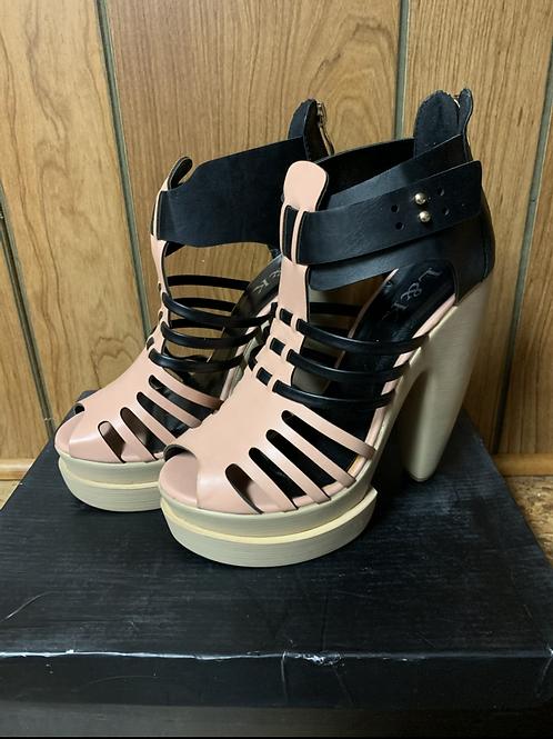 Black & Pink Platform Sandal