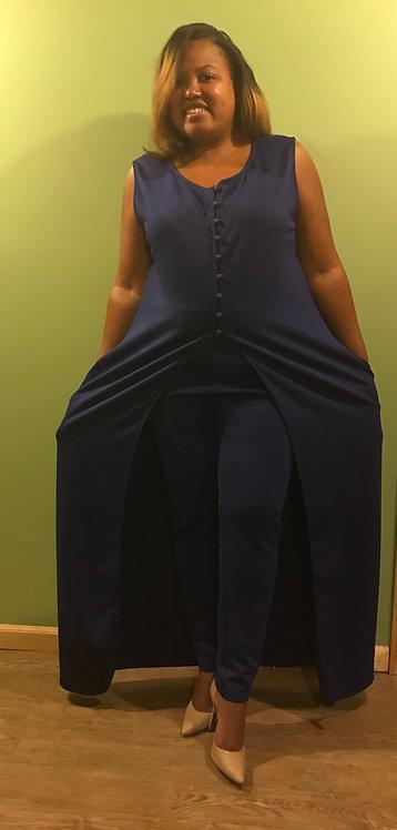 2 Piece Royal Blue Pantsuit