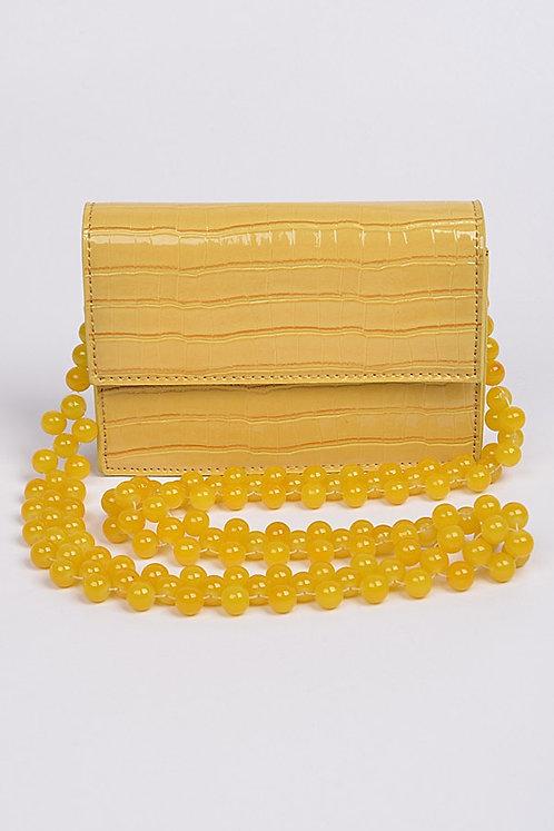 Yellow Crocodile Clutch