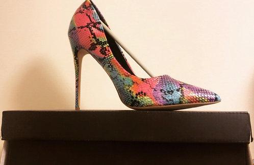 Kim Snake Pointed Toe Stiletto Heel