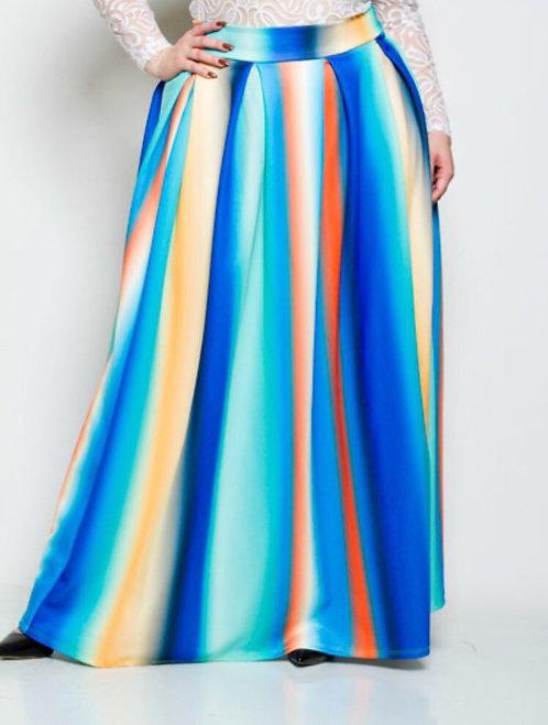 Spring Multi-Color Skirt