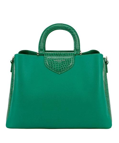 Green Croc Satchel