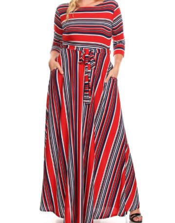 Red Stripe Maxi