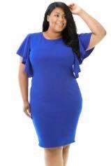 Blue Flare Sleeve dress