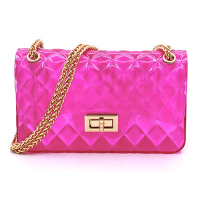 QUILT EMBOSSED JELLY CANDY CROSSBODY