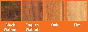 Tree types for hardwood furniture
