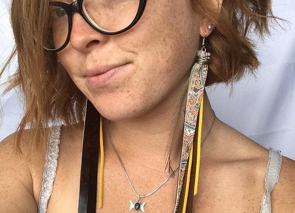 Paisley sunshine long earrings