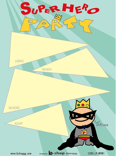 Super Hero Party Invitations